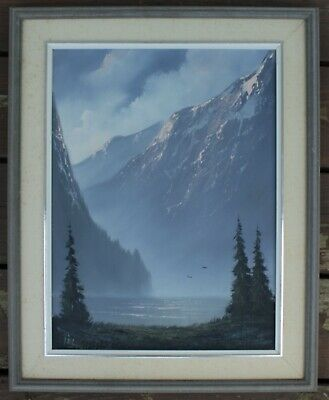 Painting Signed By Listed Canadian Frank Pel (1935- ) - Mountain Landscape
