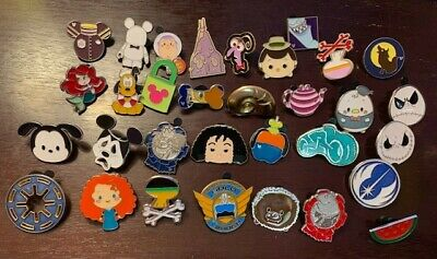 Disney Pin Trading 32 Assorted Pin Lot - Brand NEW Pins - No Doubles - Tradable