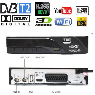 Newest DVB-T2 digital receiver supports H.265/HEVC Dolby AC3 DVB-T/H264/mpeg4