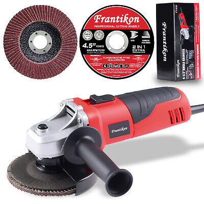 """115mm Angle Grinder 4.5"""" 500W Cutting Grinding Tool with Discs Safety Switch"""