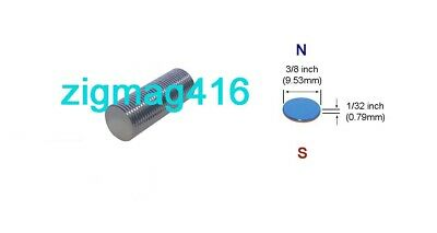 """D3/8"""" x 1/32"""" thick, N52, Rare Earth, Neodymium Disc Magnet - Pack of 50"""