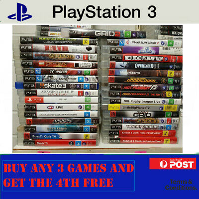 PS3 Games : Select Your Titles - Sony PlayStation 3 - BUY 3 & GET THE 4TH FREE
