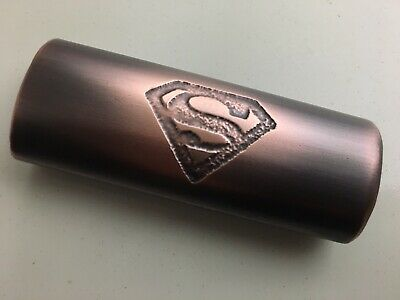 Handmade Lighter Cover Case Sleeve Holder Etched Copper Metal Superman Design