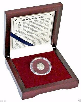 Histiaia Silver Tetrobol Beatiuful Nymph Greek Silver Coin With Presentation Box