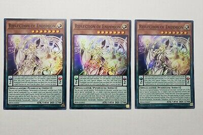 3x Reflection of Endymion Super Rare Good Yugioh Monster Cards Best Great Deal