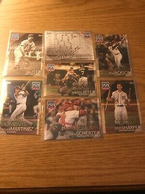 2019 Topps Series 2 150 Years of Professional Baseball Partial Set/Lot (32/100)
