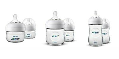 Avent Natural Baby Bottles |  Wide Neck | 2 Pack - Available in 2oz, 4oz or 9oz