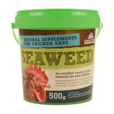 Global Herbs Seaweed  for Chickens Poultry Supplement 500g
