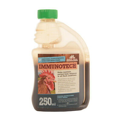Global Herbs Immunitech  for Chickens Poultry Supplement 250ml