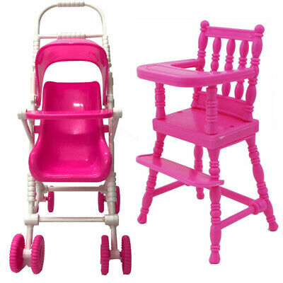 Barbie Doll Nursery Kit House Furniture Accessories Chair Stroller Home Decor
