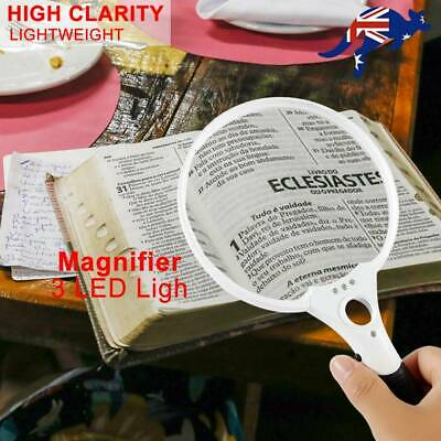 Extra Large Handheld Reading Magnifier 25X Magnifying Glass with 3 LED Lights