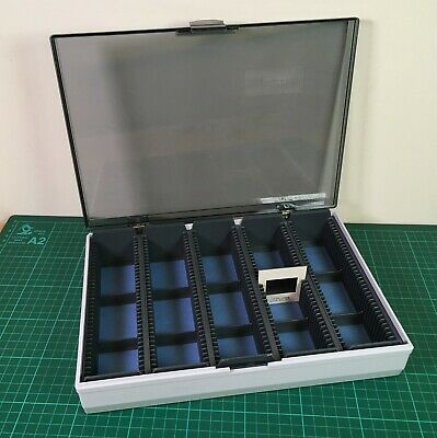 Vintage Slide Storage Case for 180 x 35mm Slides with removable trays