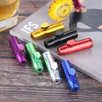 1Pc Metal Snuff Dispenser Tobacco Herb Powder Container Sniffer Gift for Smoker