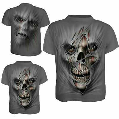Fashion 3D Printed Men's T-shirt Clothing Casual Short Sleeve O-neck Tops Skull