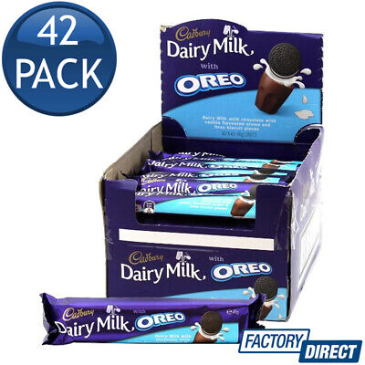 42 x CADBURY DAIRY MILK OREO CHOCOLATE BAR LOLLIES SWEETS CANDY DESSERTS 45g