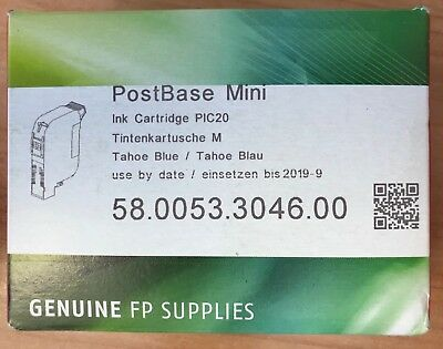Postbase MINI FP Genuine BLUE 58.0053.3046.00 Franking Ink Cartridge - 20ml