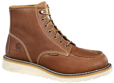 1f9f66830f2 CARHARTT WORK BOOTS Mens 13 Brown Leather Soft Toe Lace Up Slip ...