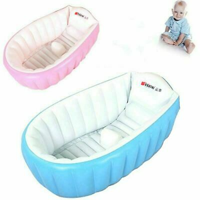 Portable Inflatable Bath Tub Travel Compact Toddler Infant Kids Baby Bathtub New