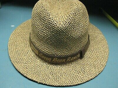 Hershey's Cocoa Bean Ranch Straw Hat Vintage Original    Excellent