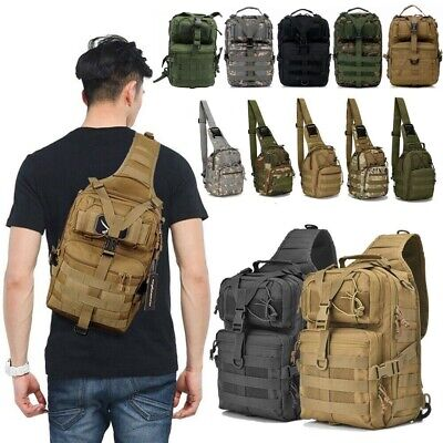 20L Outdoor Military Chest Bag EDC Tactical Backpack Waterproof Sling Rucksacks