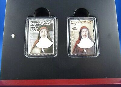 2010 Mary McKillop Canonisation Silver Stamp Shaped 1/2 Oz 999 Boxed Coin Set