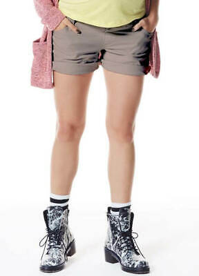 NEW - Queen mum - Cotton Shorts in Taupe - Maternity Shorts