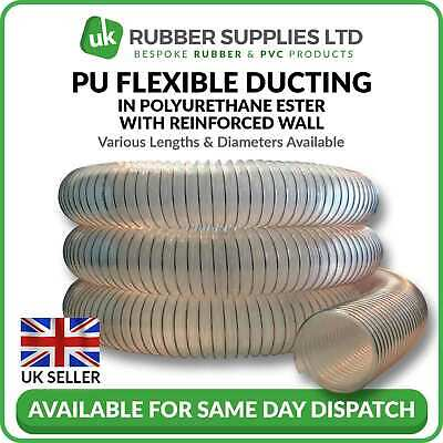 Clear Flexible Ducting Hose PU - Ventilation, Woodworking, Fume&Dust Extraction