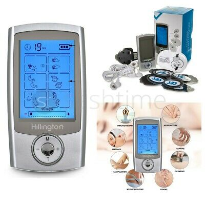 Rechargeable Tens Machine Digital Therapy Massager Pain Relief Acupuncture IB