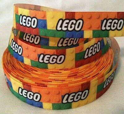 "Lego Grosgrain Ribbon 1"" wide sold by 2m - Craft - Hair - Lanyards etc"