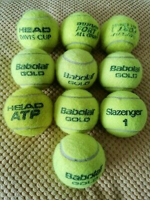 Tennis Balls - Used - Dog Toys or Practice Balls - x10 Pack