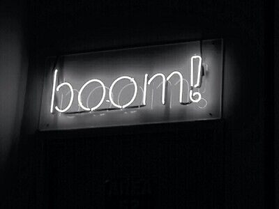 Boom! Neon Sign Acrylic Light Glass Gift Bar Artwork Glass Bedroom With Dimmer