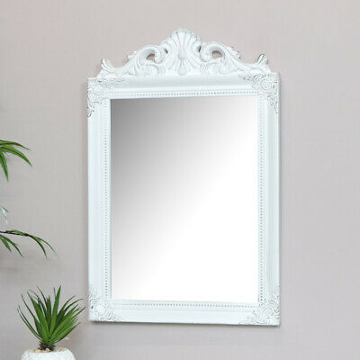 Antique white wall mirror shabby chic French living room hallway bathroom mirror