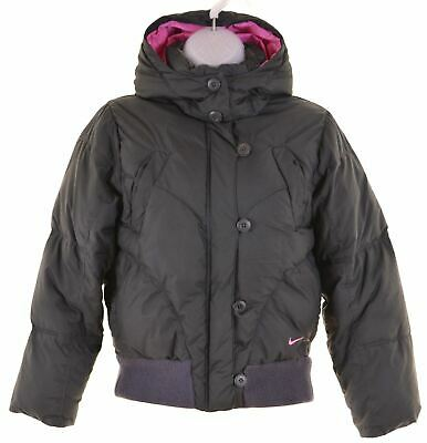 NIKE Girls Padded Jacket 10-11 Years Medium Grey Polyester  IZ18