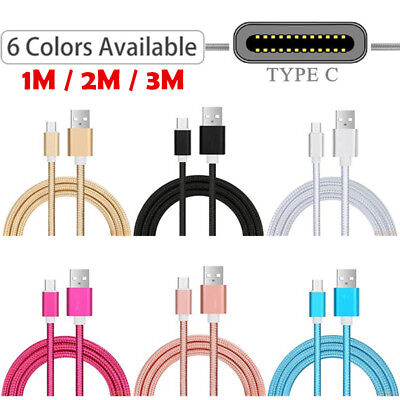 Extra Long USB Type C Fast Sync Data Charger Cable For Samsung Galaxy A20e A80