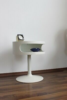 Opal Lampentisch Tulip side table 70er space age Beistelltisch