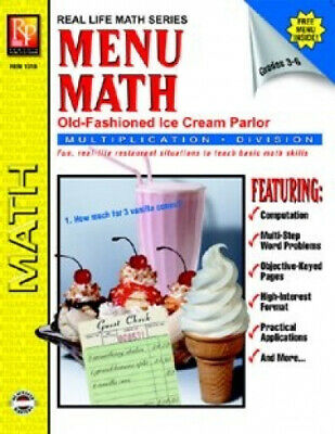 Menu Math: Old Fashioned Ice Cream Parlour, Multiplication & Division (Grades