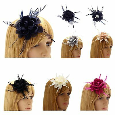 Navy Grey Nude Black Ivory Fuchsia Fascinator Wedding Ladies Day Races Prom New