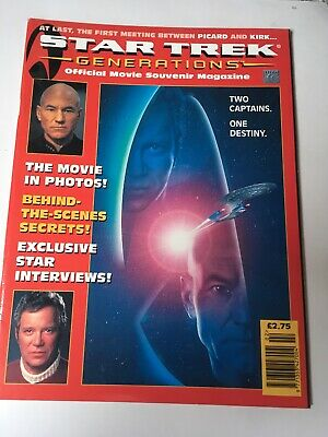 MAGAZINE - Star Trek Generations Official Movie Souvenir Magazine 1995 Cap Kirk