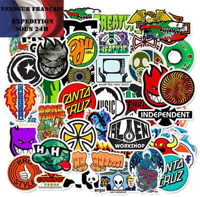 Lot autocollants stickers SKATEBOARD / PLANCHE À ROULETTES