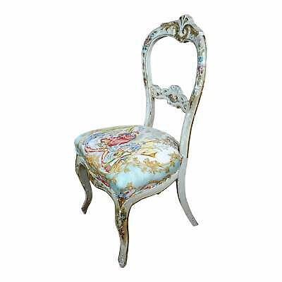 18th century Venetian Painted and upholstered Side Chair