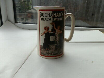 Buchanans Black & White Whisky Jug Large..By appointment To HM King Edward Vll