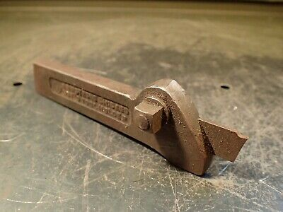 """Armstrong #20 Lathe Parting Cut-Off Tool Holder: 3/8"""" x 15/16"""" Shank, USA, Used"""