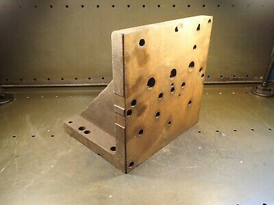 "12"" x 12"" x 10"" Steel Right Angle Mill Milling Set Up Fixture Plate: Used Good"
