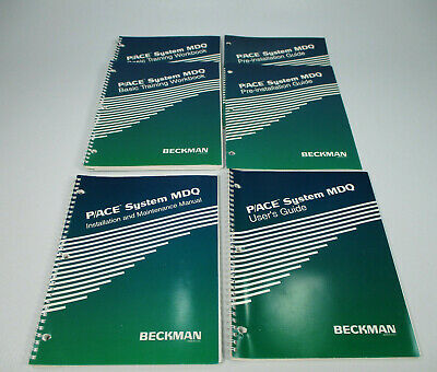 Beckman P/ACE System MDQ User Guide, Installation Manual, & Training Workbooks