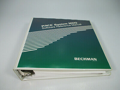 Beckman P/ACE System MDQ Software Reference Manual (Binder)