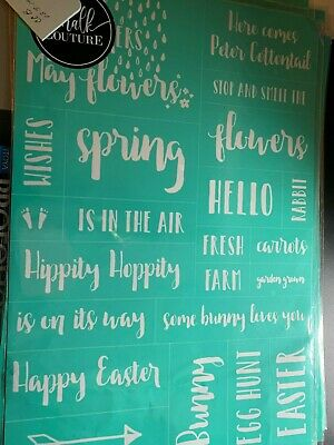 Chalk Couture Transfer, Spring Words RARE HTF