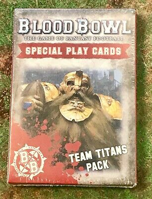 Blood Bowl Special Play Cards Team Titans Pack  200-04-60 NIB