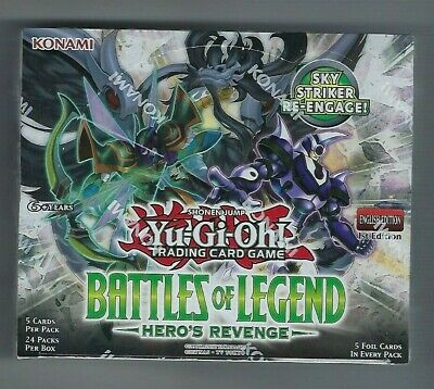 Yugioh! Battles of Legend: Hero's Revenge Booster Box Sealed