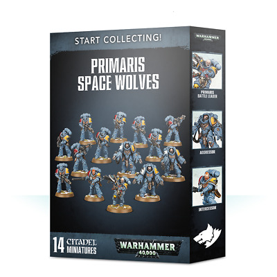 Start Collecting Primaris Space Wolves Warhammer 40K NIB