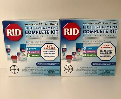 2X RID Lice Treatment Complete Kit - 3-Step Process - Bayer Product - 2 Pack!